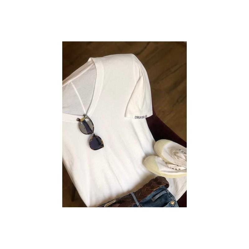 Tee shirt Blanc manche courte
